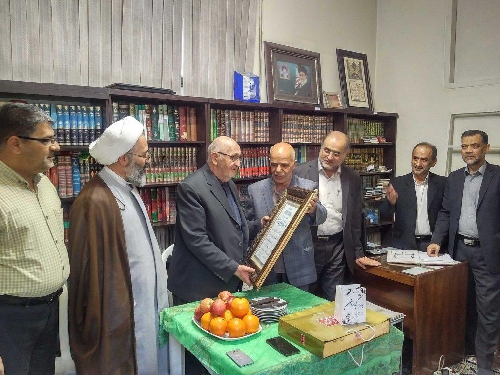 تکریم ومعارفه حاج آقا مشهدی
