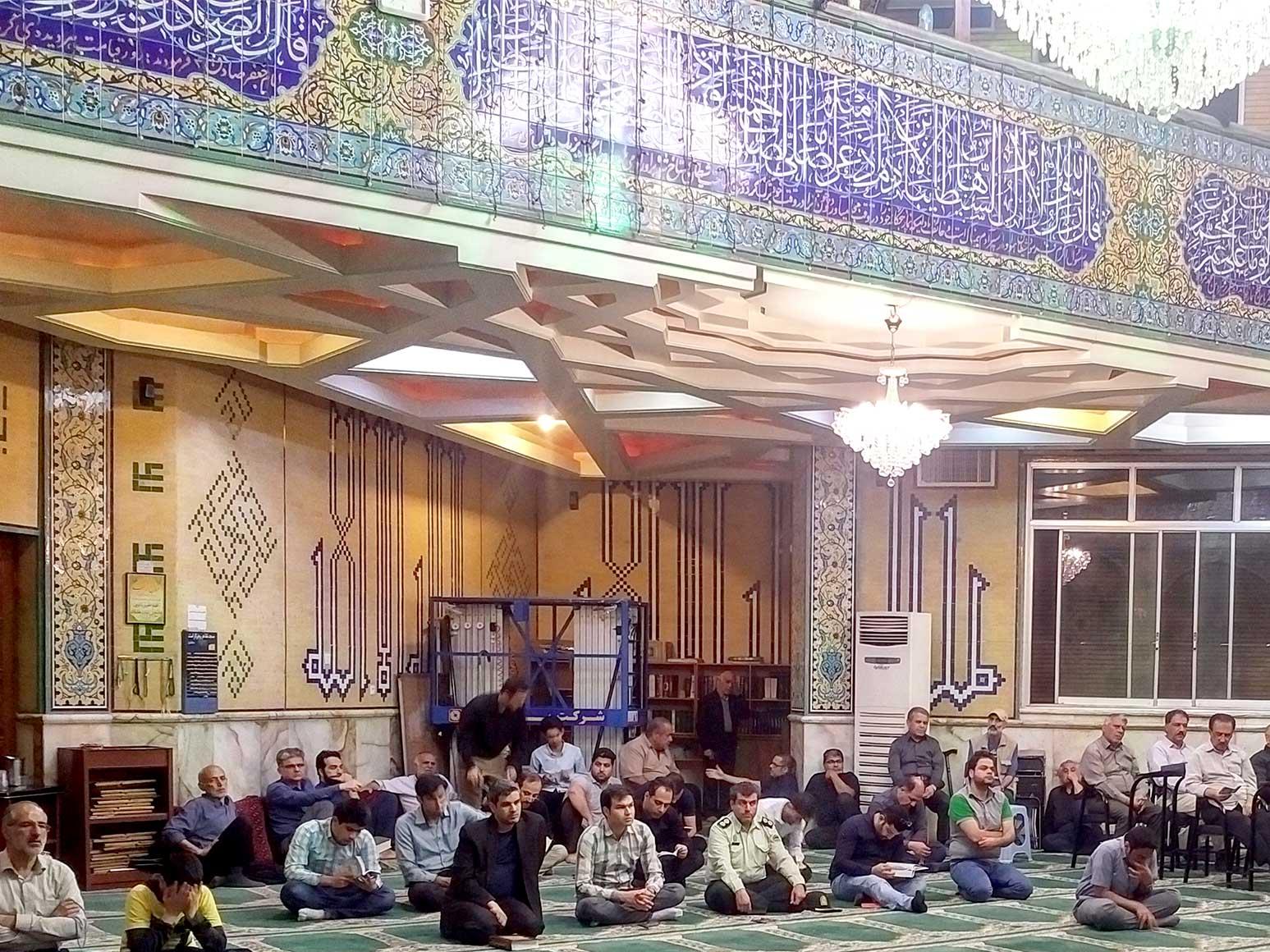 ویژه برنامه ضربت خوردن حضرت علی (ع)درمسجد النبی امیرآبادشمالی